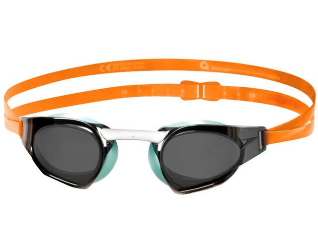 speedo Fastskin Prime Mirror Goggle Jaffa Orange/Peppermint/Smoke